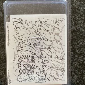 New Stampin Up Happy Birthday Greetings Stamp